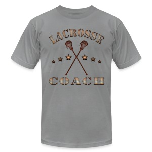 Lacrosse Coach Steampunk T-Shirt - Men's T-Shirt by American Apparel
