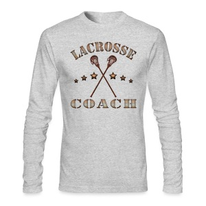 Lacrosse Coach Steampunk T-Shirt - Men's Long Sleeve T-Shirt by Next Level