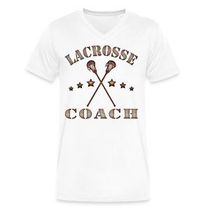 Lacrosse Coach Steampunk T-Shirt - Men's V-Neck T-Shirt by Canvas
