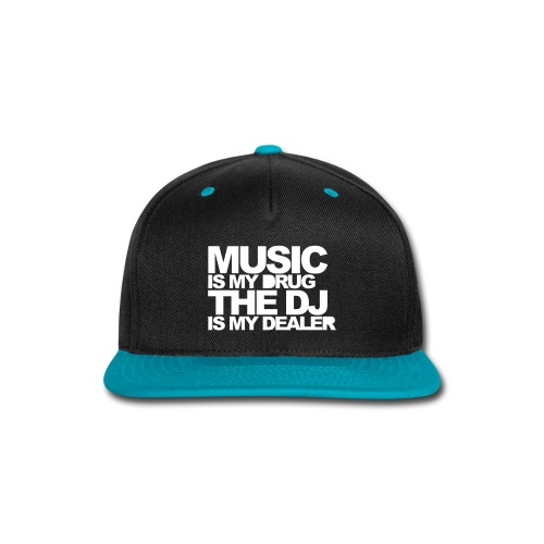 Music is my drug - Snap-back Baseball Cap
