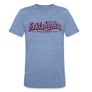 Oklahoma Native America - Mens - Heather Blue - Unisex Tri-Blend T-Shirt by American Apparel