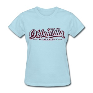 Oklahoma Native America - Ladies - Lite Blue - Women's T-Shirt