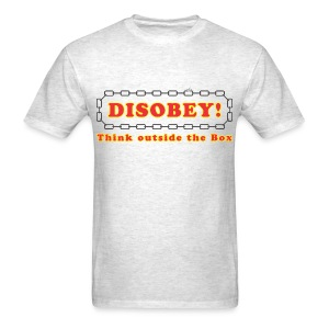 Disobey think outside box - Men's T-Shirt