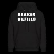Hoodies ~ Men's Hoodie ~ Bakken Oilfield