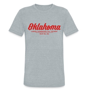 Oklahoma Works - Men -Athletic grey - Unisex Tri-Blend T-Shirt by American Apparel