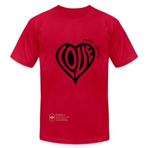 Love Makes a Family - Men's - Men's Fine Jersey T-Shirt