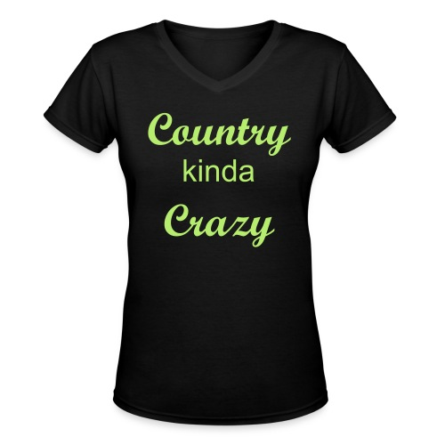 Country Crazy - Women's V-Neck T-Shirt
