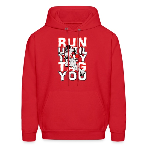 RUN TAG - Men's Hooded Sweatshirt RED - Men's Hoodie