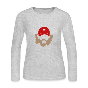 Beard - Women's Long Sleeve - Women's Long Sleeve Jersey T-Shirt