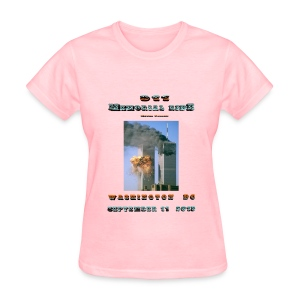 911 Motorcycle Memorial Ride to Washington DC Sept 11,2103 Pink Short Sleeve T-shirt - Women's T-Shirt