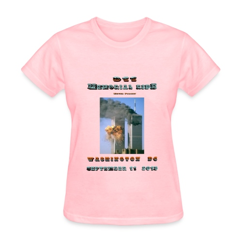 911 Motorcycle Memorial Ride to Washington DC Sept 11,2103 Pink Short Sleeve T-shirt - Women's T-Shirt
