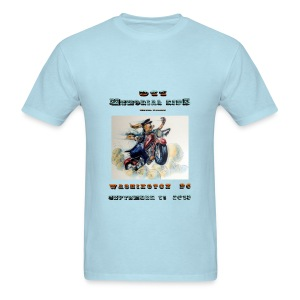911 Motorcycle Memorial Ride to Washington DC Sept 11,2103  T-shirt - Men's T-Shirt