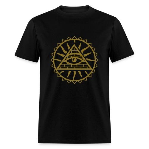 megos head on me like im luminati  - Men's T-Shirt