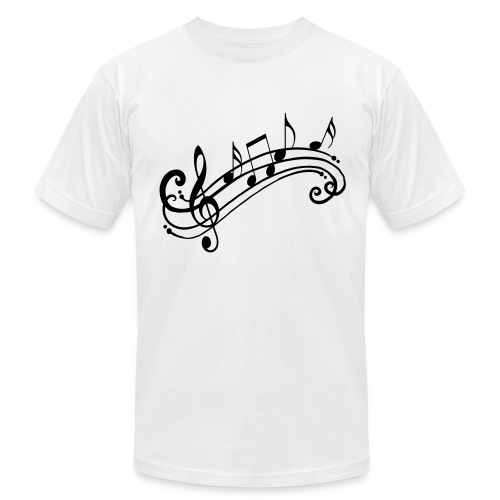Music Notes Shirt - Men's Fine Jersey T-Shirt