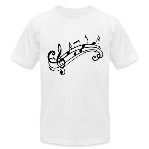 Music Notes Shirt - Men's Fine Jersey T-Shirt