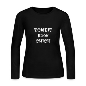 ZOMBIE BOOK CHICK - Women's Long Sleeve Jersey T-Shirt