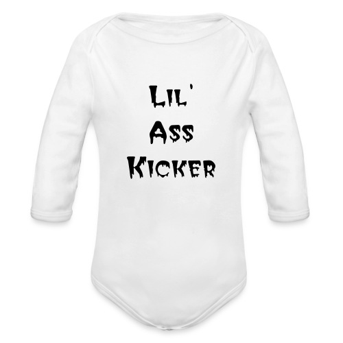 ZOMBIE BOOK CHICK - Organic Long Sleeve Baby Bodysuit