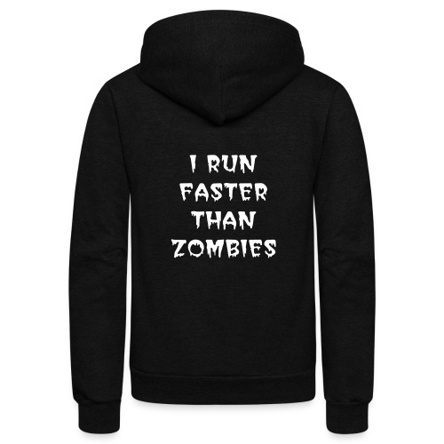 ZOMBIE BOOK CHICK - Unisex Fleece Zip Hoodie