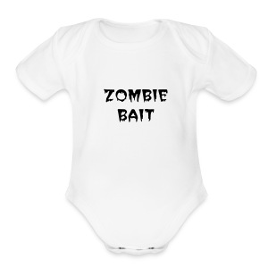ZOMBIE BOOK CHICK - Short Sleeve Baby Bodysuit