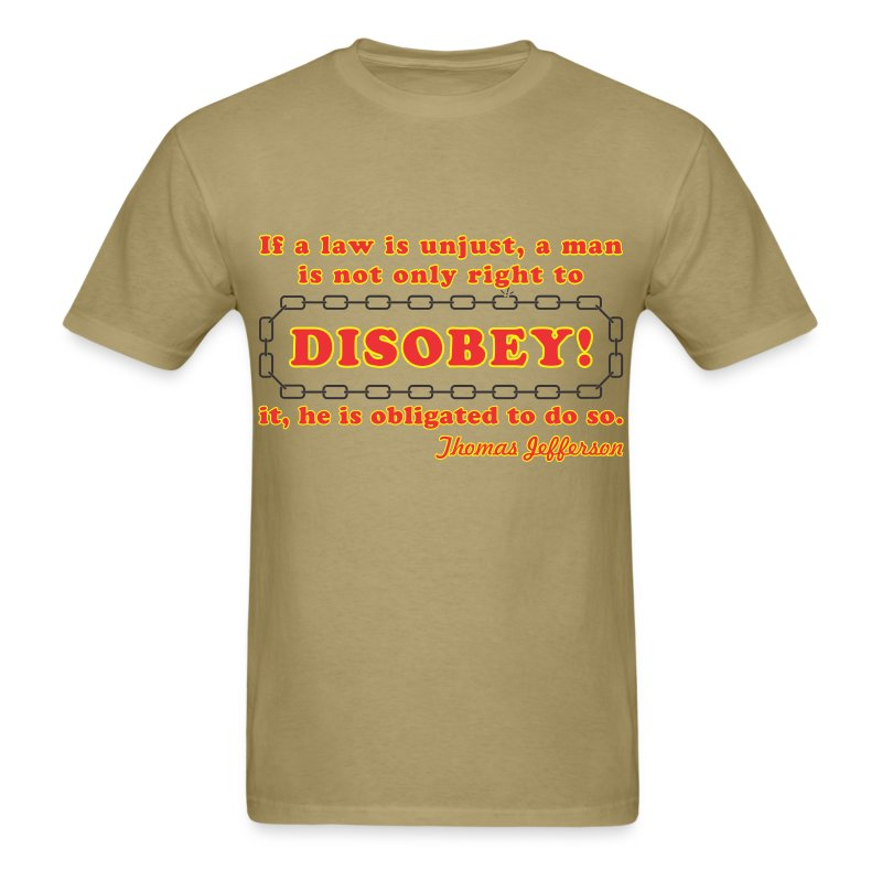 disobey jefferson - Men's T-Shirt