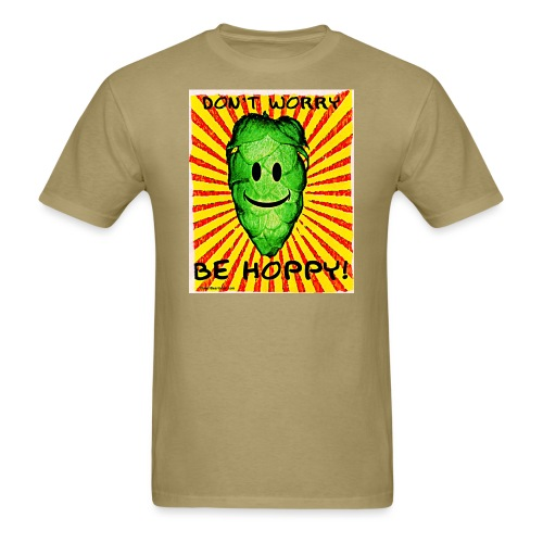 Don't Worry Be Hoppy Men's T-Shirt (Double Sided) - Men's T-Shirt