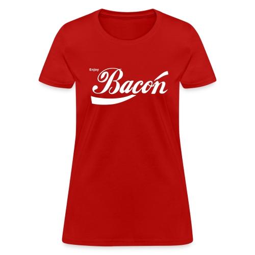 Enjoy Bacon [f] - Women's T-Shirt