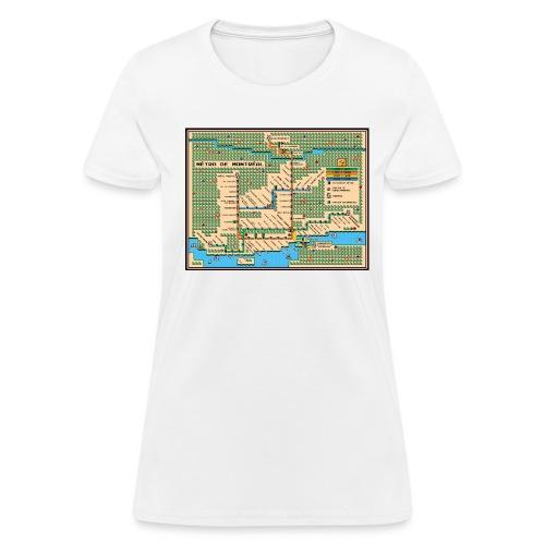 Mario3 Montreal Metro Map [f] - Women's T-Shirt