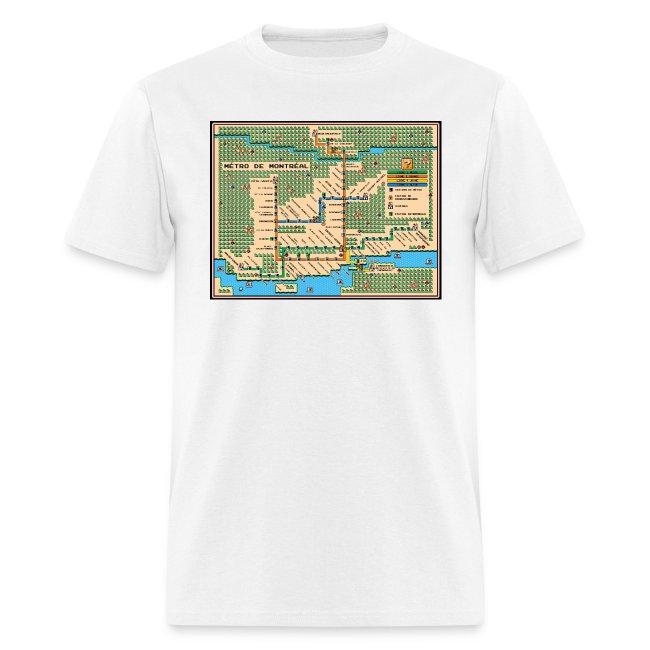 Mario3 Montreal Metro Map [m] | Men's T-Shirt