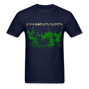 Men's Jefferson State T-Shirt (distressed) - Men's T-Shirt