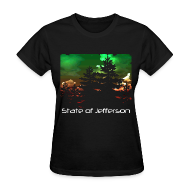 T-Shirts ~ Women's T-Shirt ~ Women's State of Jefferson (trees) T-Shirt