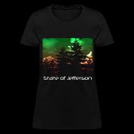 T-Shirts ~ Women's T-Shirt ~ Women's State of Jefferson (trees) T-Shirt