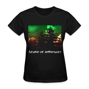 Women's State of Jefferson (trees) T-Shirt - Women's T-Shirt