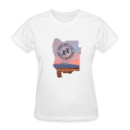 T-Shirts ~ Women's T-Shirt ~ Women's State of Jefferson (map) T-Shirt