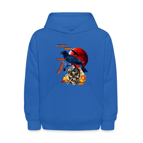 Raven and Red Moon-lettered - Kids' Hoodie
