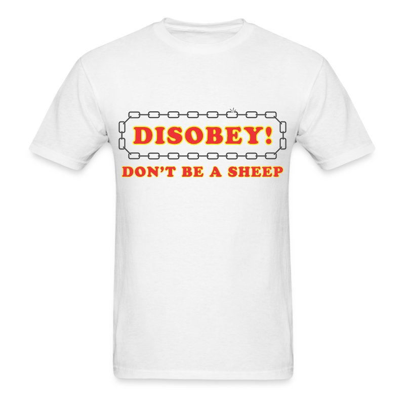 disobey sheep - Men's T-Shirt
