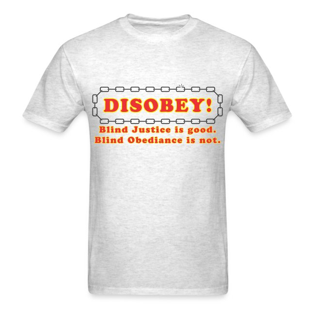 disobey blind justice