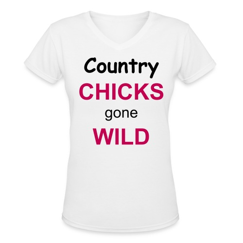 CCGW Womens White T-shirt - Women's V-Neck T-Shirt