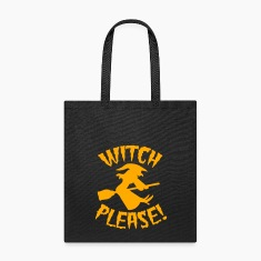 Witch please on a broomstick Halloween funny Bags & backpacks