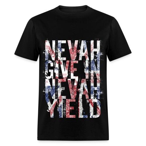 Nevah Give In British Flag Men's Tee - Men's T-Shirt