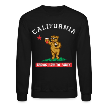 Young California Knows To Party Long Sleeve Shirts