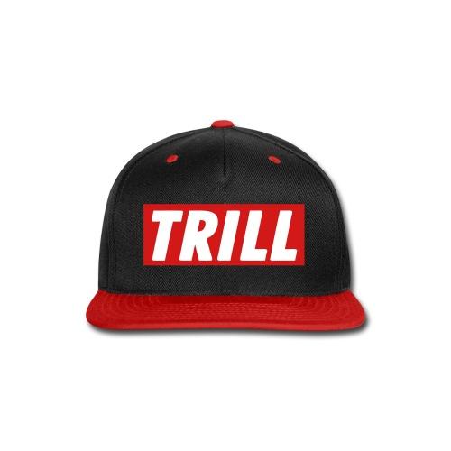 Trill Snapback (Black/Red) - Snap-back Baseball Cap