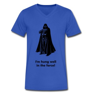 I'm hung well in the force! - Men's V-Neck T-Shirt by Canvas