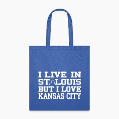 I Live in St. Louis But I Love Kansas City Bags & backpacks