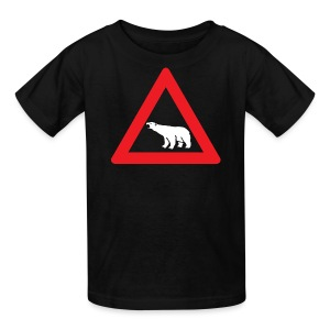 Polar Bear Road Sign - Kids' T-Shirt