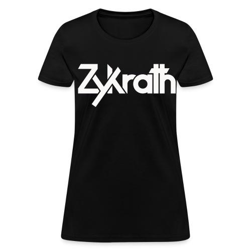 Zykrath Tee (White Text) [WOMEN'S] *25% OFF!* - Women's T-Shirt