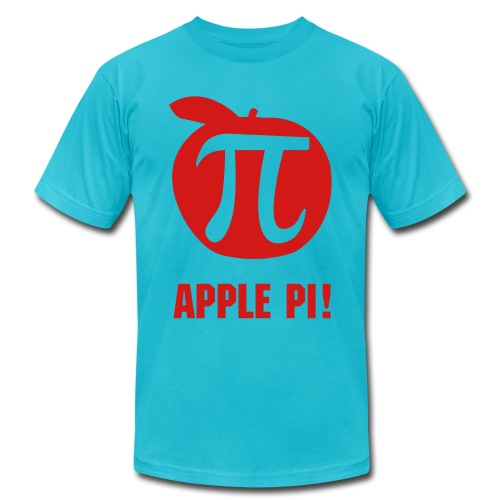 Apple Pi Men's T-Shirt - Men's Fine Jersey T-Shirt