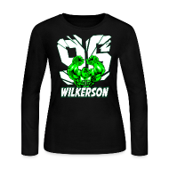 Long Sleeve Shirts ~ Women's Long Sleeve Jersey T-Shirt ~ Wilkerson Hulk Womens Long Sleeve