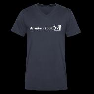T-Shirts ~ Men's V-Neck T-Shirt by Canvas ~ AmateurLogic V-Neck T-Shirt (White Logo)