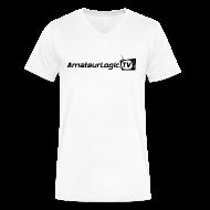 T-Shirts ~ Men's V-Neck T-Shirt by Canvas ~ AmateurLogic V-Neck T-Shirt (Black Logo)
