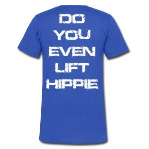 Do You Even Lift Hippie White VNECK - Men's V-Neck T-Shirt by Canvas